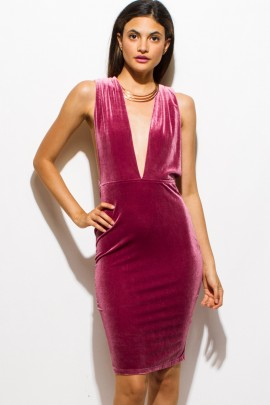 PINK SODA VELVET PARTY DRESS