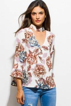 PINK SODA FLORAL BLOUSE TOP