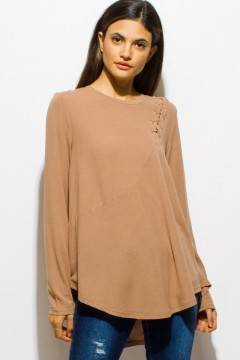 PINK SODA BOAT NECK TUNIC TOP