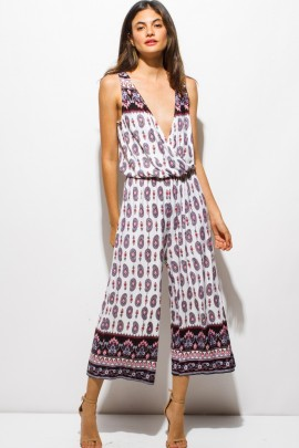 PINK SODA PAISLEY JUMPSUIT