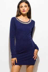 RHINESTONE KNITTED DRESS