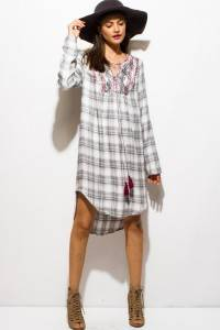 TUNIC PLAID DRESS