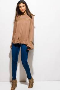 RUFFLED BLOUSE TOP